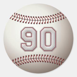 Spelare numrerar 90 - kall baseball syr stift runt klistermärke