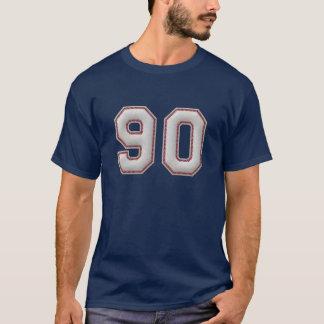 Spelare numrerar 90 - kall baseball syr tröjor