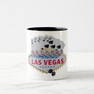 Spelare två för poker för den Las Vegas Två-Tonad Mugg