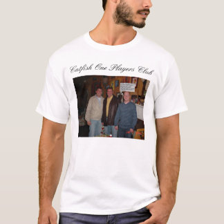 Spelareklubb för havskatt en tee shirts
