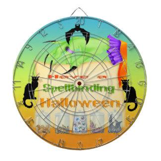 Spellbinding Halloween - häxan räcker pilen stiger Piltavla