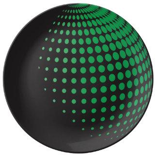 Spheres 3D med pricker Porslinstallrik