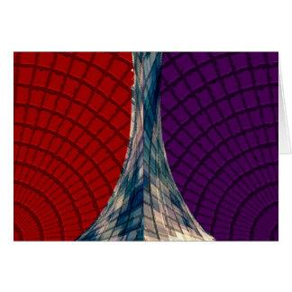Spheres och pyramider - Holistic färger Hälsningskort