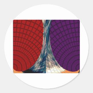 Spheres och pyramider - Holistic färger Runt Klistermärke