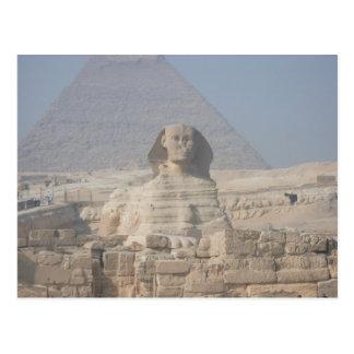 Sphinx och pyramid i egypten vykort