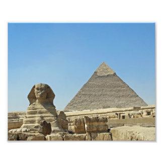 Sphinxen med pyramider fototryck