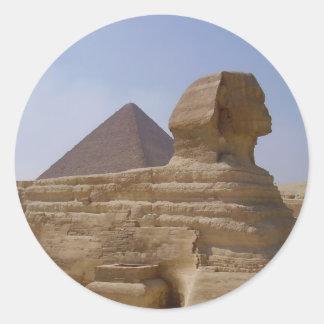 sphinxpyramid runt klistermärke