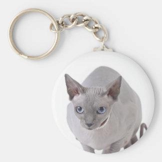 Sphynx katt rund nyckelring