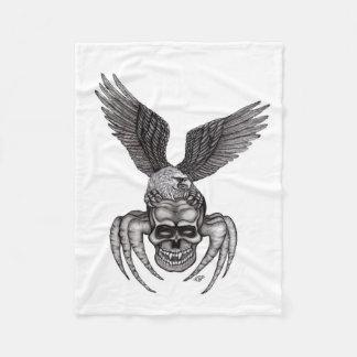 Spiderskull med örnen i Tatuering-stil Fleecefilt