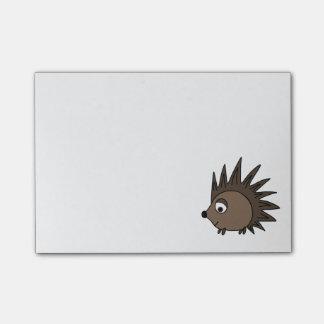 Spiky igelkott post-it lappar