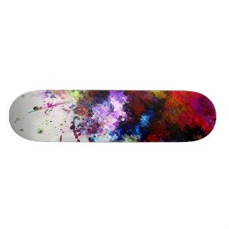 Spillt måla - skridskon stiger ombord design old school skateboard bräda 18 cm