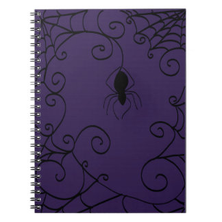 Spindel anteckningsbok för webbenspiral