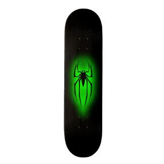 Spindel - grönt mini skateboard bräda 18,7 cm