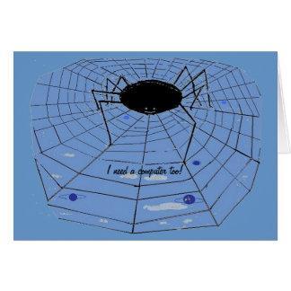 Spindel med en www. hälsningskort