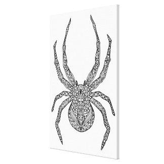 Spindelklotter 6 canvastryck