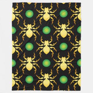 Spindelmönster - djurt mönster fleecefilt