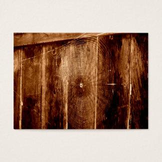 Spindelnät på staket visitkort