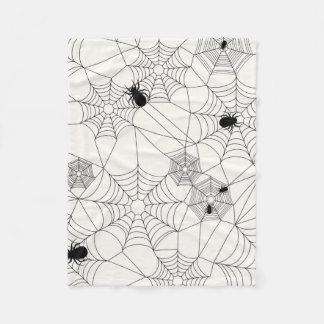 SpindelnätHalloween mönster Fleecefilt