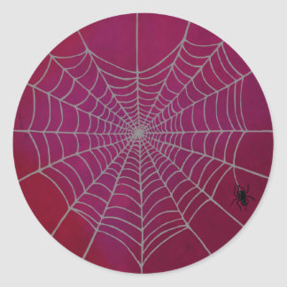 Spindelnäthjärta Runt Klistermärke