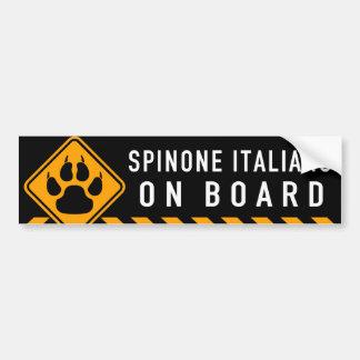 Spinone Italiano ombord Bildekal