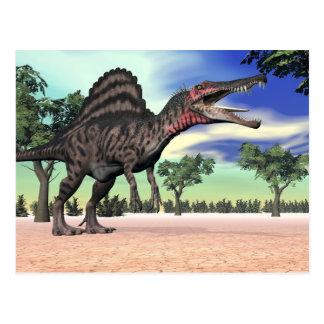 Spinosaurus dinosaur i öknen - 3D framför Vykort