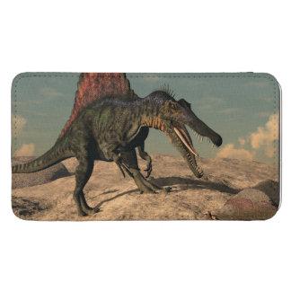 Spinosaurus dinosaur som jagar en orm mobilficka