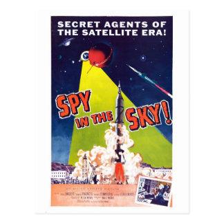 Spion i himmelvykortet vykort