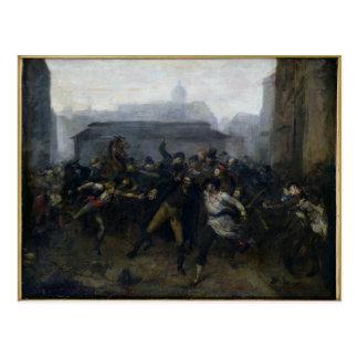Spionen, episod av siegen av Paris, 1871 Vykort