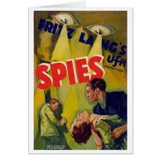 Spioner (1928) hälsningskort