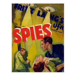 Spioner (1928) vykort