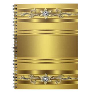 Spiral affärsanteckningsbok för guld anteckningsbok