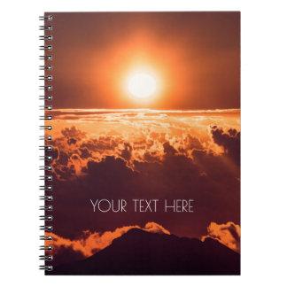 Spiral anteckningsbok för Haleakala soluppgång |