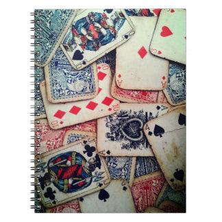 """Spiral anteckningsbok """"för poker"""""""