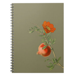 Spiral anteckningsbok för Pomegranate