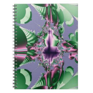 Spiral anteckningsbok för tropiska Fractals