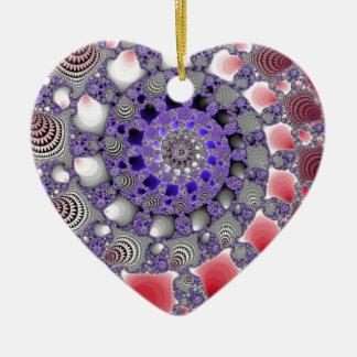 Spiral avgrund julgransprydnad keramik