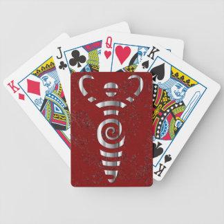 Spiral flodgudinna - krom - 5 spelkort