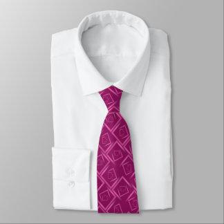 spiral för shock rosamagentaabstrakt kvadrerar slips