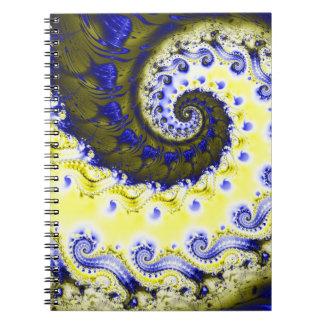 Spiral Fractalanteckningsbok Anteckningsbok