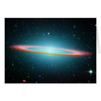 Spiral galax NGC 4594 för Sombrero Hälsningskort