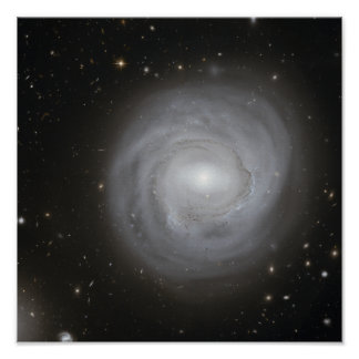 Spiral galax NGC 4921 Affischer