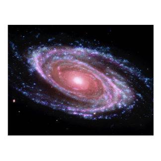 Spiral galaxvykort för rosor vykort