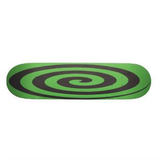 Spiral grönt skate deck