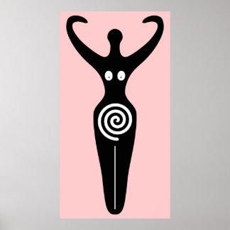 Spiral kvinnlig gudinnahelig affischer