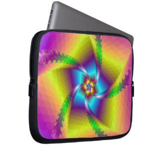 Spiral laptop sleeve för blommigt