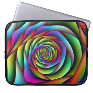 Spiral laptop sleeve för regnbåge