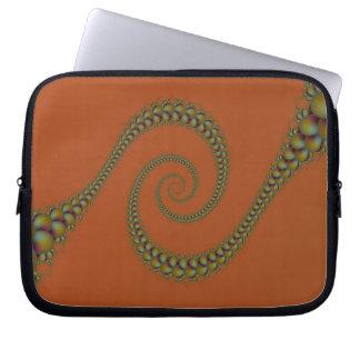 Spiral som röra sig i spiral laptop sleeve