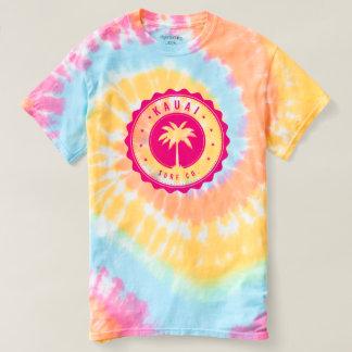 Spiral Tie-Färg för Kauai surfaCo. T-tröja T-shirts