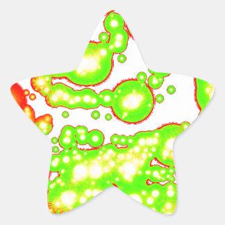 Spiral vitalitet för mörk stjärnformat klistermärke