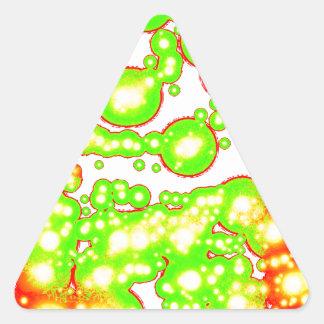 Spiral vitalitet för mörk triangelformat klistermärke